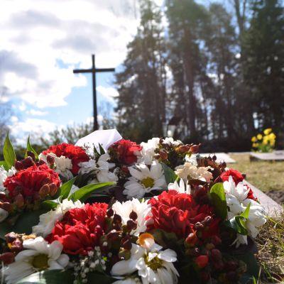 hjältegravarna på näse begravningsplats i borgå