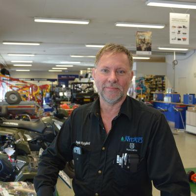 Patrik Nygård, vd på Maskin Nygård i Vasa.