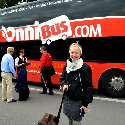 busspassagerare i Borgå