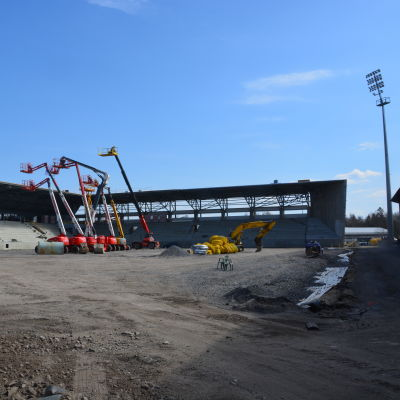 Taklagsfest på Sandvikens stadion den 4 maj 2016.