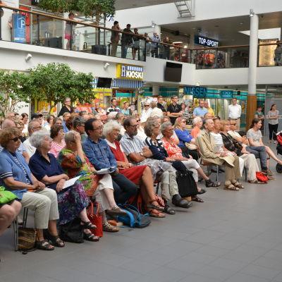 Publiken på Musikfestspelens gratiskonsert i Rewell center 2016.