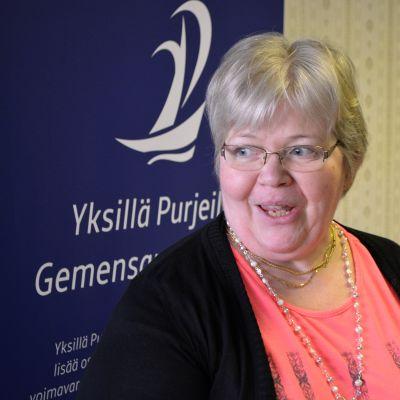 carola klawer talar vid invigninen av kompanjonskapshuset kulma i lovisa 15.01.15