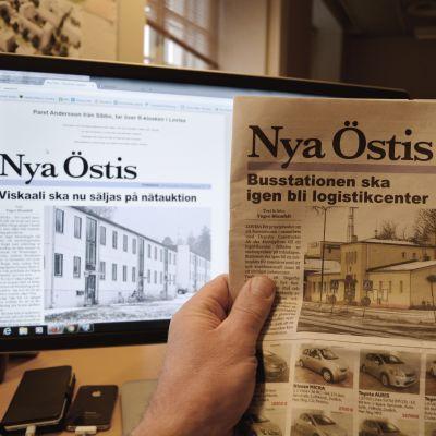 Nya Östis på papper och på webben