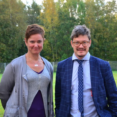 Sofia Svartsjö och Rurik Ahlberg.