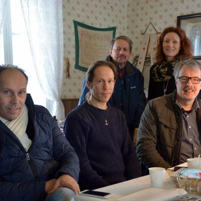 """Stefan """"Appla"""" Asplund, Marcus Hellman, Harry Byholm, Annika Wiklund och Ulf Nyman."""