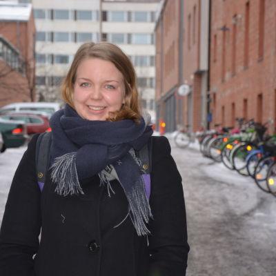 Anna Nylund studerar till klasslärare i Vasa