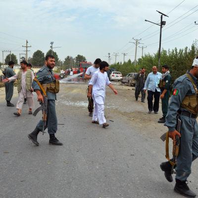 Afghanska säkerhetsstyrkor i Kunduz den 29 juli 2015.