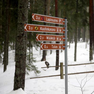 reittiviittoja Repoveden kansallispuistossa