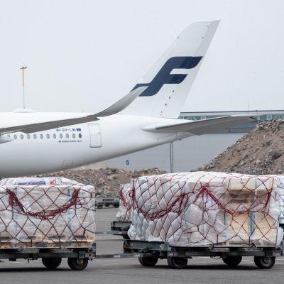 Ett Finnairplan.