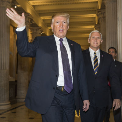 President Donald Trump och vicepresident Mike Pence.