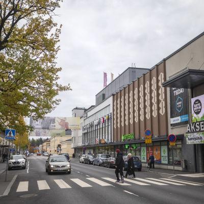 Kuva Mikkelin maaherrankadusta syksyllä 2021