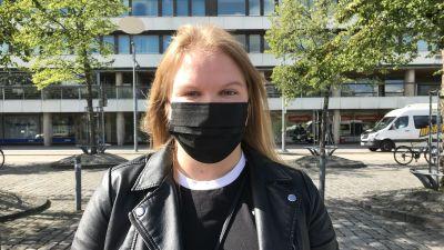 Marie Lövholm, styrelseordförande för Finlands Svenska Lärarstuderandes Förening.