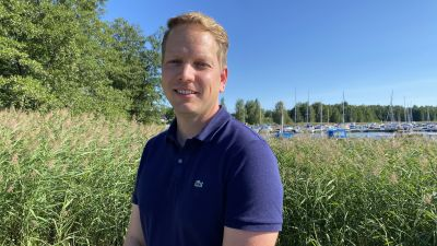 Frank Hoverfelt är vd för Raseborgs energi.