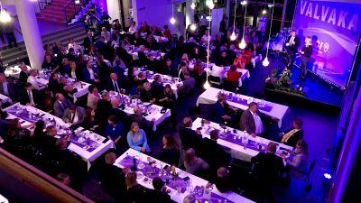 Bild från valvakan på Åland 2019