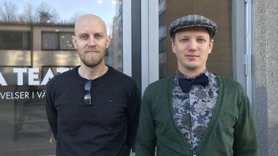 Wasa Teateras marknadsföringschef Jan Fröjdö och försäljningschef Simon Ventus.