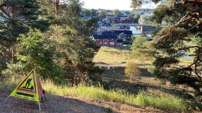 Renovering av erosionsskador vid Borgbacken i Borgå 2021