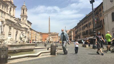 Piazza Navona i Rom 17.5.2020
