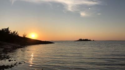 Solnedgång i Hangö Västra