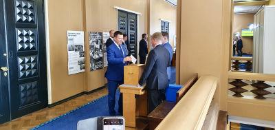 Riigikogus talman Jüri Ratas röstar i det estniska presidentvalet