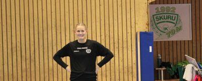Ellen Voutilainen i Skuru IK hösten 2018.