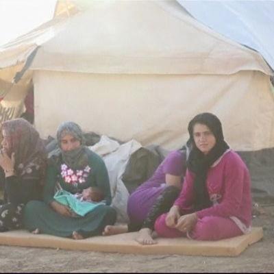 Kvinnor som lyckats fly från IS i Irak