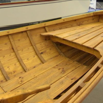 träbåtar fanns utställda på Åbomässan