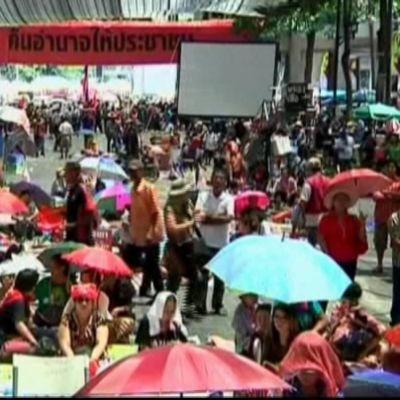 Demonstranter i Bangkok