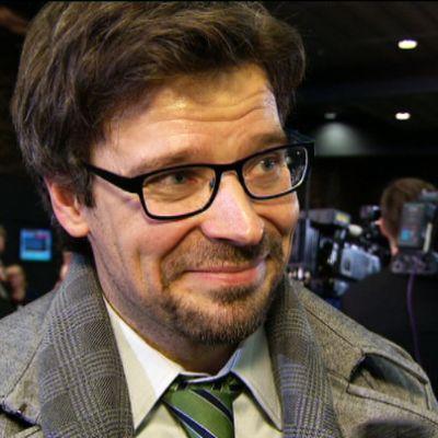 Ville Niinistö på De grönas valvaka.