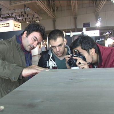David Aouad, arkitekt och lärare från Beirut, besökte Habitare med två av sina elever.