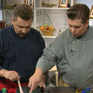 Janne Pekkala ja Timo Nykyri kokkaavat Makupalat-ohjelmassa