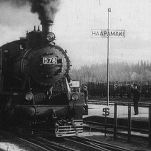 Juna Haapamäen asemalla