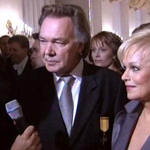 Kari Tapio ja Katri Helena Linnan juhlissa 2003