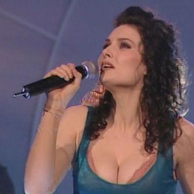 Edean laulaja Marika Krook Suomen euroviisukarsinnassa 1998