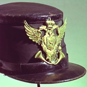 Vanha postinkantajan hattu 1850-luvulta Postimuseossa