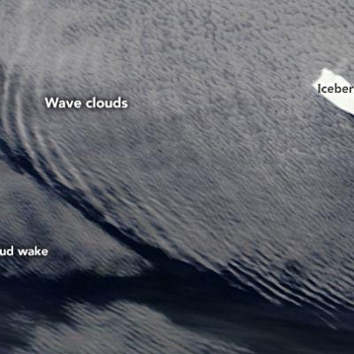 Jäävuoret muodostavat aaltoja.