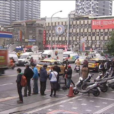 Taiwanin valtapuolueen Kuomintangin päämaja Taipeissa.