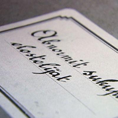 Vanha kansio, jonka kannessa lukee Abnormit sukupuolielostelijat.