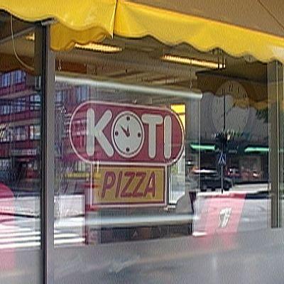 Kotipizzan myymälä.