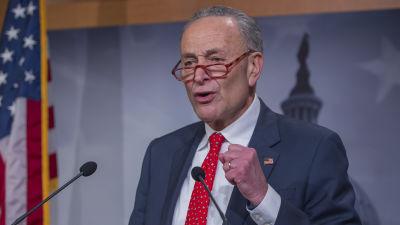 Demokraternas gruppledare i den amerikanska senaten Chuch Schumer 25.3.2020