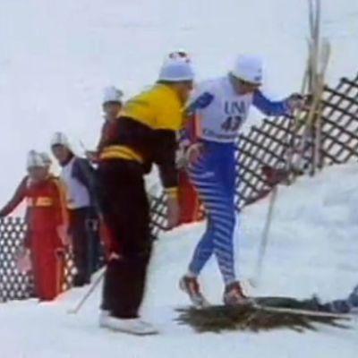 Marjo Matikainen 5 km MM-kilpailussa 1987 (rajattu Suomeen)