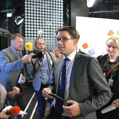 Sverigedemokraternas ordförande Jimmie Åkesson.
