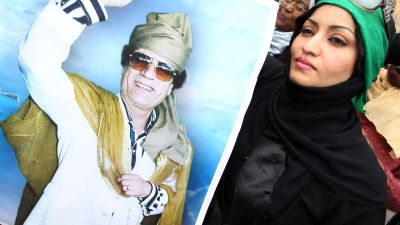Gaddafianhängare i Tripoli