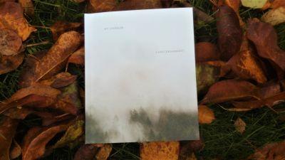 Pärmen på My Lindelöfs diktsamling LAND (FRAGMENT).