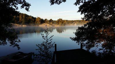 Morgondimma i Medelby, Houtskär