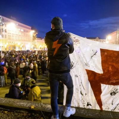 Demonstration i Polen.