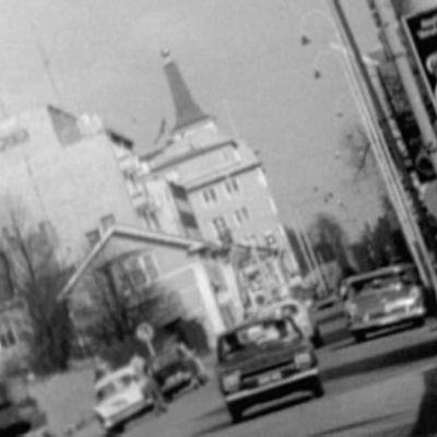 Oulun katukuvaa vuonna 1969.