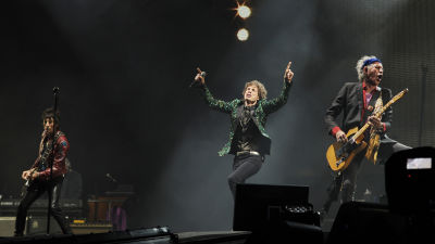 Ronnie Wood, Mick Jagger och Keith Richards,