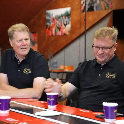 Joman uudet omistajat Harri Broman ja Ari Mononen