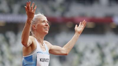 Sara Kuivisto ler i OS i Tokyo.