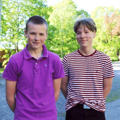 Jonathan Svenlin och Kristian Määttälä.